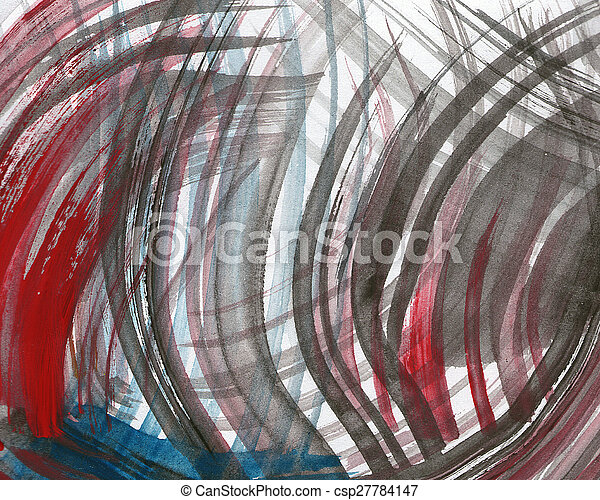 Abstract watercolor painted background - csp27784147