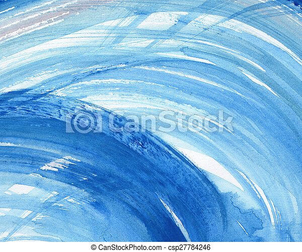 Abstract watercolor painted background - csp27784246