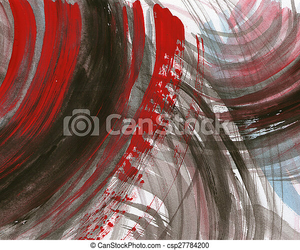 Abstract watercolor painted background - csp27784200
