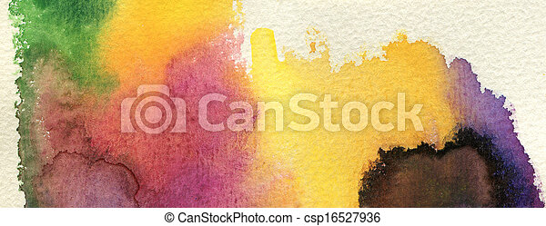 Abstract watercolor painted background - csp16527936