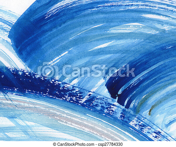 Abstract watercolor painted background - csp27784330