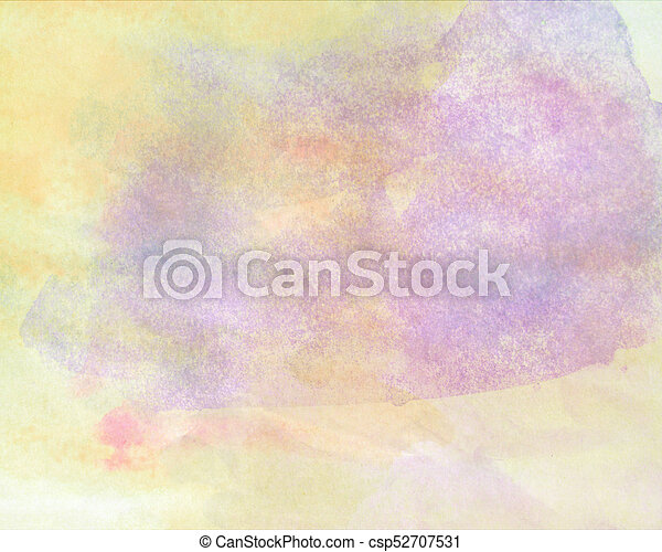 Abstract watercolor painted background - csp52707531