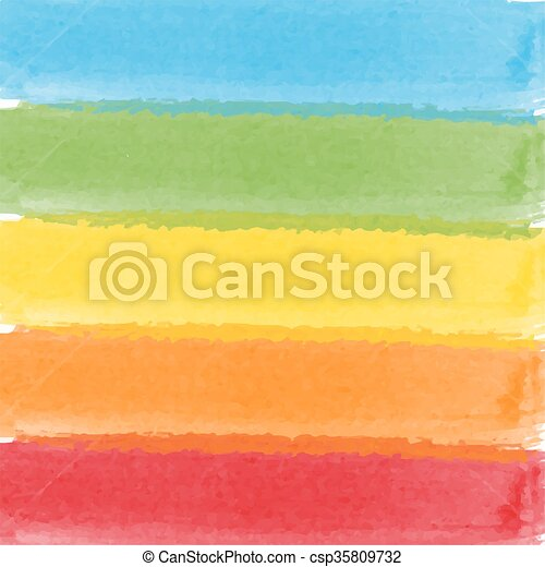 Abstract watercolor rainbow colors background - csp35809732