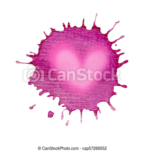Abstract Watercolor Violet Splashes Isolated Purple Watercolor Spot