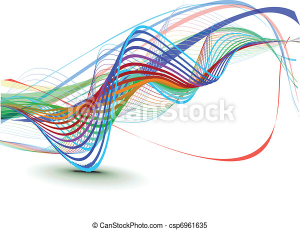 Abstract wave background composition - csp6961635