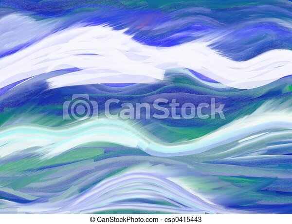 abstract waves painting of abstract ocean waves