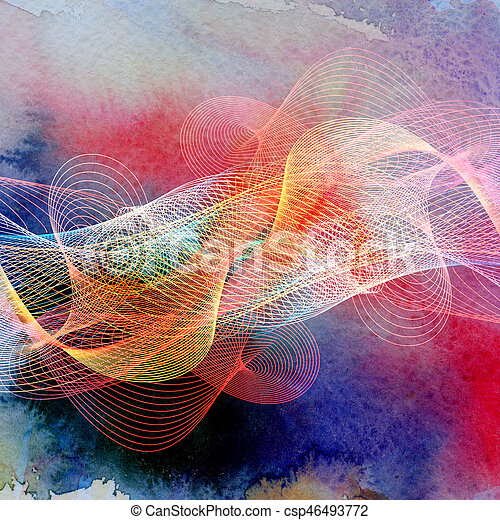 Abstract wavy background - csp46493772