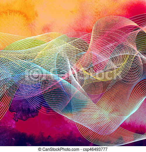 Abstract wavy background - csp46493777