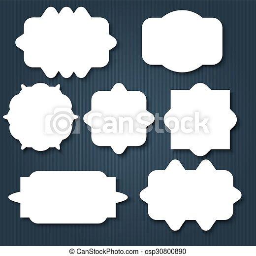 Abstract wavy shape sticker design csp30800890
