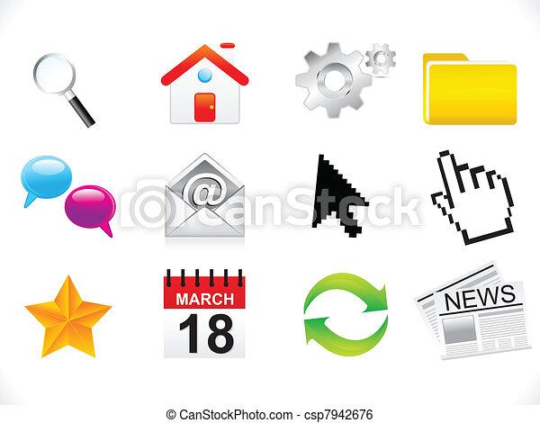 abstract web icon set - csp7942676