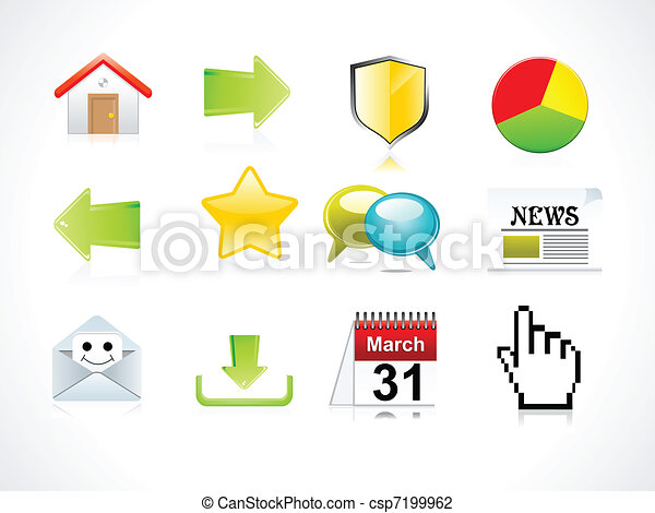 abstract web icon set - csp7199962
