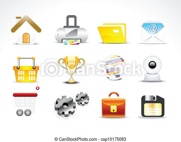 abstract web icon set vector - csp10175083
