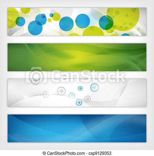 abstract website header - csp9129353