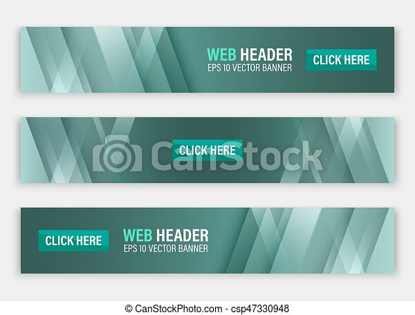 Abstract website header. Horizontal vector banners. - csp47330948