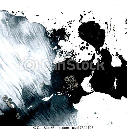 Abstract wet vector monotype - csp17824197