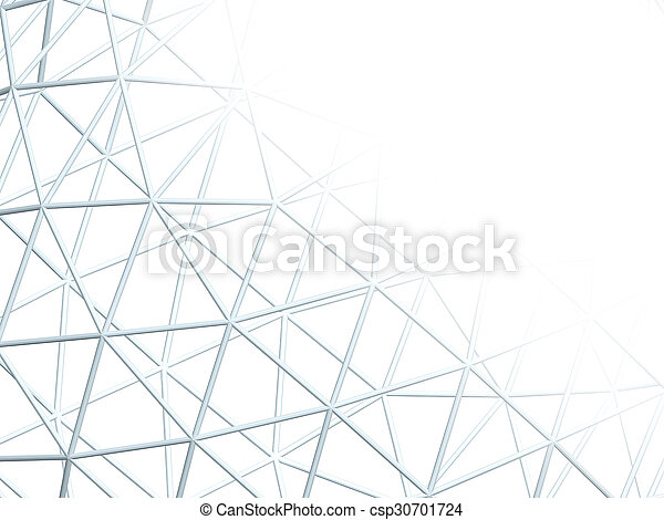 Abstract white background with 3d lattice - csp30701724