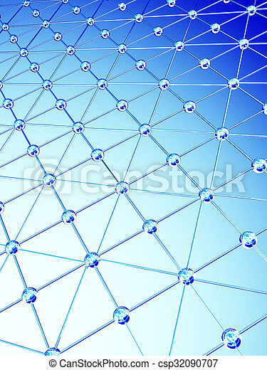 Abstract white background with 3d lattice - csp32090707