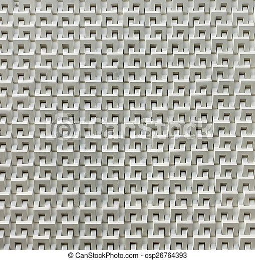 Abstract white cement block wall pattern - csp26764393