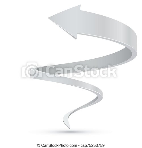 Abstract white spiral arrow business vector background ...