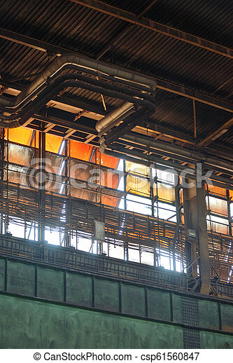 Abstract Windows of old building - csp61560847