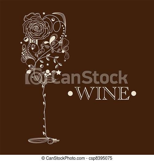 Abstract Wine Glass Art