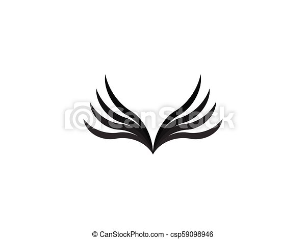 abstract wing logo design template vector illustration - csp59098946
