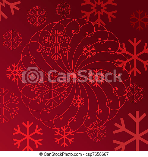 abstract winter background - csp7658667