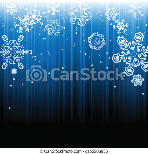 Abstract winter snowfall background - csp5306956