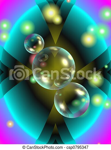 Abstract with bubbles - csp0795347