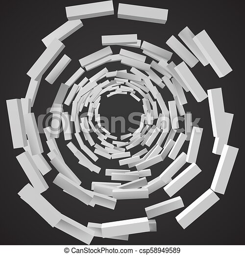 abstract with deformed cubes. 3d style vector illustration - csp58949589