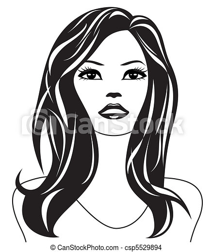 Abstract woman black and white csp5529894