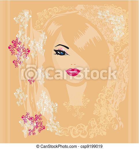 Abstract Woman  - csp9199019