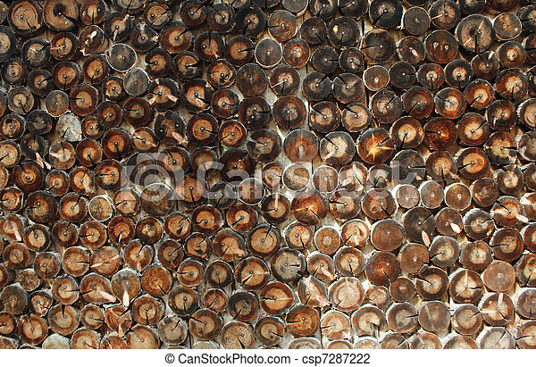 Abstract wood log background close-up - csp7287222