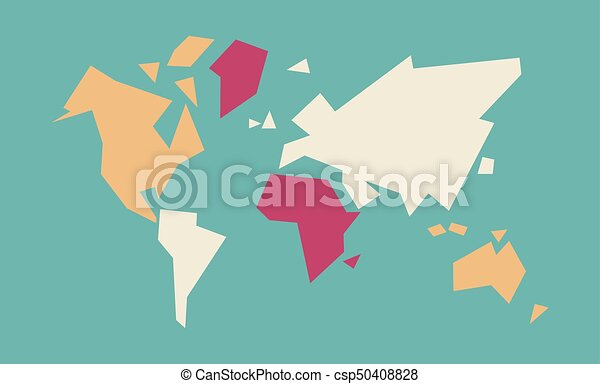 Abstract World Map Geometric Concept Illustration Abstract