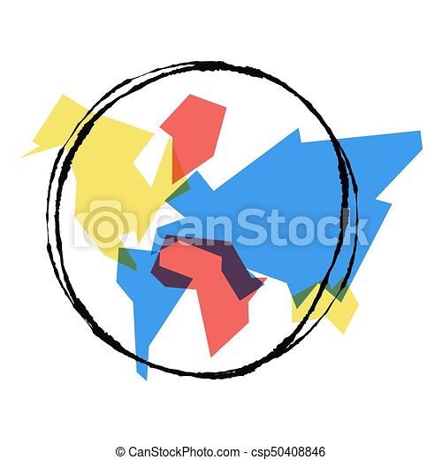 Abstract world map hand drawn earth outline art abstract eps abstract world map hand drawn earth outline art csp50408846 gumiabroncs Image collections
