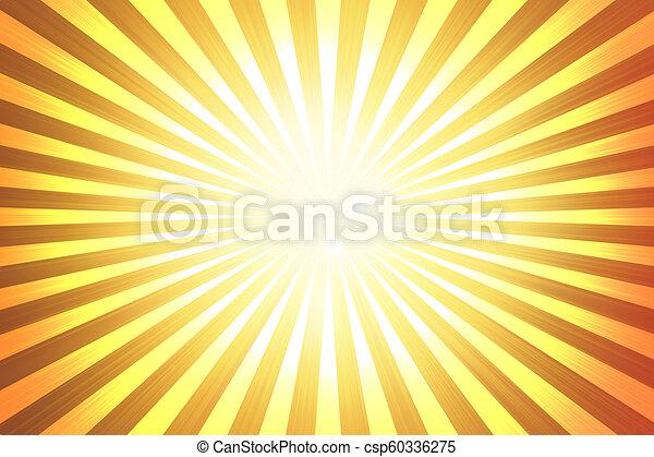 Abstract Yellow Background Orange Sun Rays