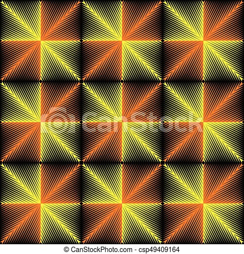Abstract Yellow Background. Vector Disco Party Wallpaper Graphic Design - csp49409164