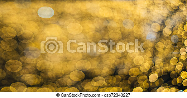 Abstract yellow blurred light background - csp72340227