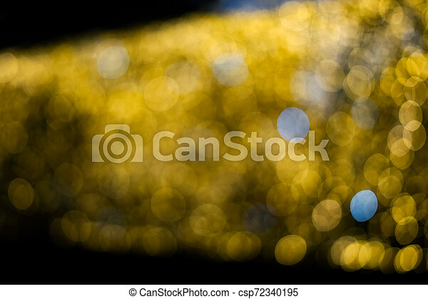 Abstract yellow blurred light background - csp72340195
