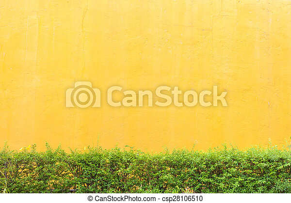 Abstract yellow cement wall texture background - csp28106510