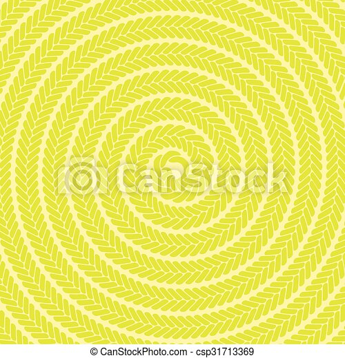 Abstract Yellow Spiral Pattern - csp31713369