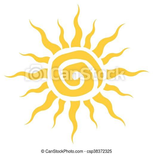 Abstract Yellow Sun Simple Design - csp38372325