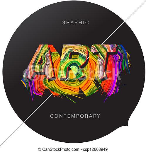 abstracte kunst, tijdgenoot, achtergrond - csp12663949
