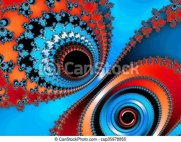 Abstraction fractal background - csp35978855