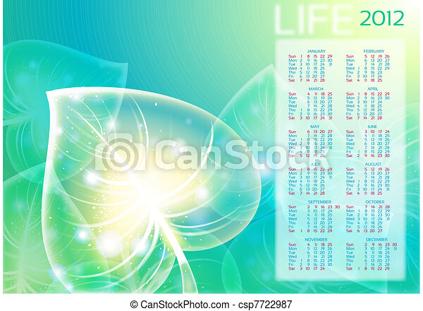Abstraction leaf background. - csp7722987