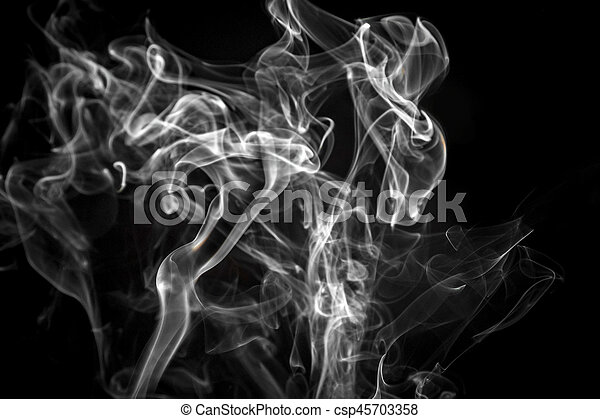 Abstraction White Smoke Fire Black Background Abstraction White Fog Fire Black Background