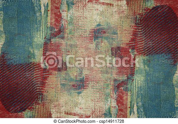 abstrakcyjna sztuka, projektowany, tło - csp14911728