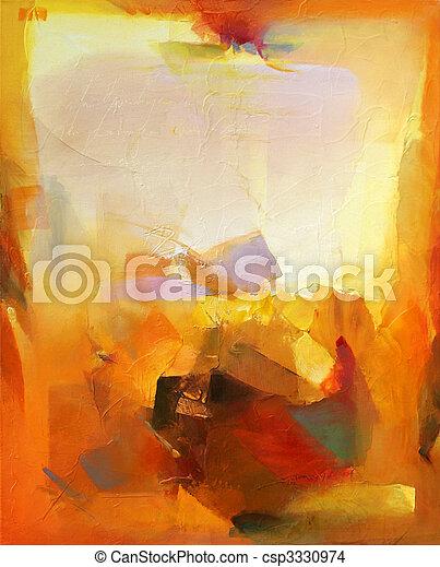 abstrakcyjna sztuka - csp3330974