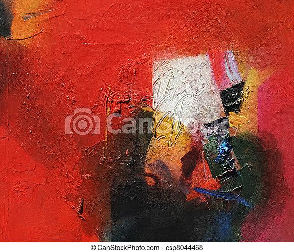 abstrakcyjne malarstwo - csp8044468