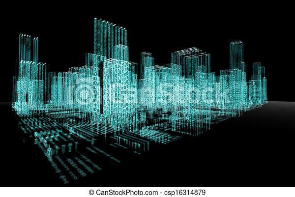 abstrakcyjny, architektura - csp16314879